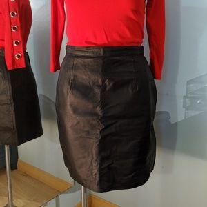 Newport News black leather skirt Size 16